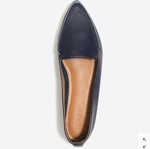 J. Crew Edie Black Leather Loafers - size 10